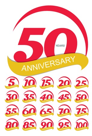 selebration: Template Logo Anniversary Set Vector Illustration EPS10