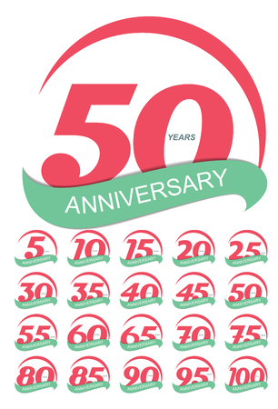 70 80 years: Template Logo Anniversary Set Vector Illustration EPS10