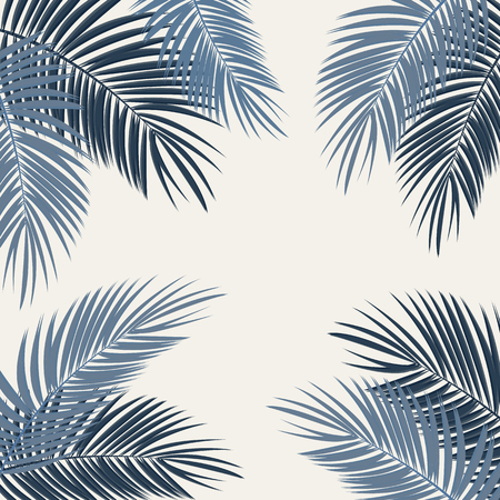 Palm Leaf Vector Background Illustration EPS10 Ilustração