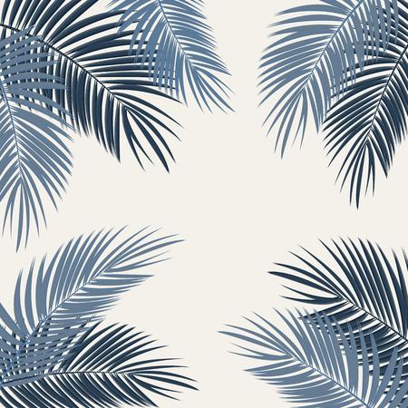 cartoon frame: Palm Leaf Vector Background Illustration EPS10 Illustration