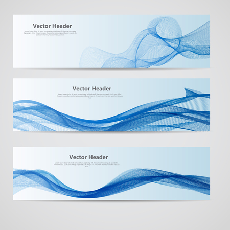 Abstract Colored Wave Header Background. Vector Illustration. EPS10