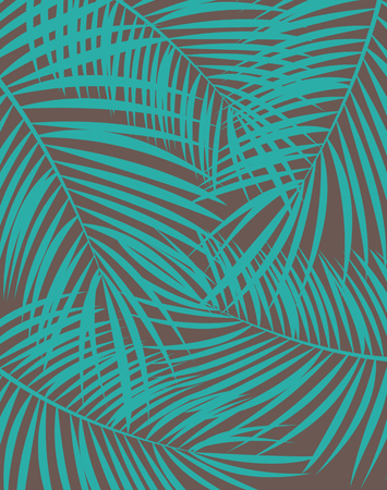 Palm Leaf Vector Background Illustration EPS10 Иллюстрация