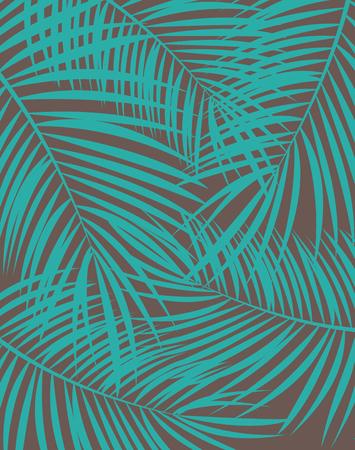 Palm Leaf Vector Background Illustration EPS10 Illustration