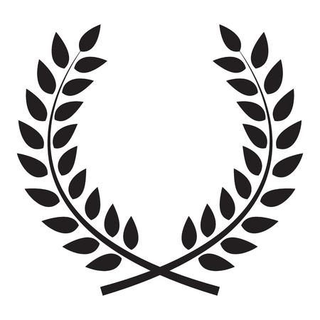 rama de olivo: Premio corona de laurel. Ganador etiqueta de hojas, s�mbolo de la victoria. Ilustraci�n del vector EPS10