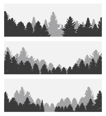 Afbeelding van de natuur. Silhouet van de boom. Vector Illustration EPS10