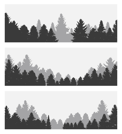 Image of Nature. Tree Silhouette. Vector Illustration EPS10