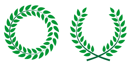 laurel leaf: Award Laurel Wreath. Winner Leaf label,  Symbol of Victory. Vector Illustration EPS10 Illustration