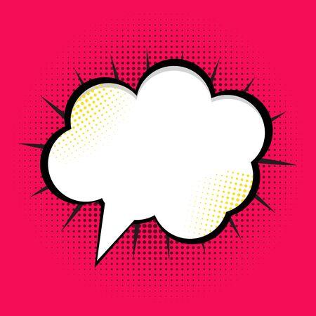 ben day dot: Speech Bubble Pop Art Background On Dot Background Vector Illustration EPS10