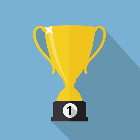 trofeo: Ganador del trofeo de la Copa de Oro Ilustración Vector EPS10 Vectores