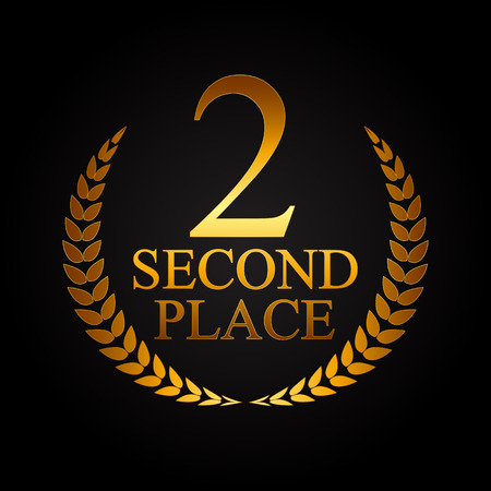 Second Place Laurel Design Label Vector Illustration EPS10