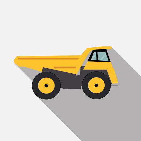 semitrailer: Ftat Truck Vector Illustration