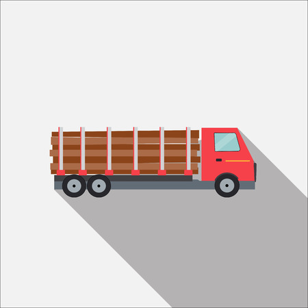 camion: Ftat Truck Vector Illustration