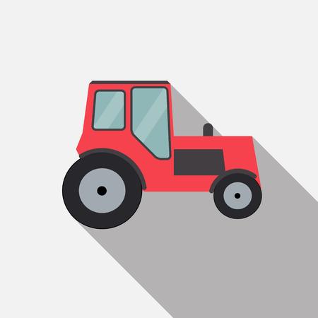 semitrailer: Ftat Tractor Vector Illustration