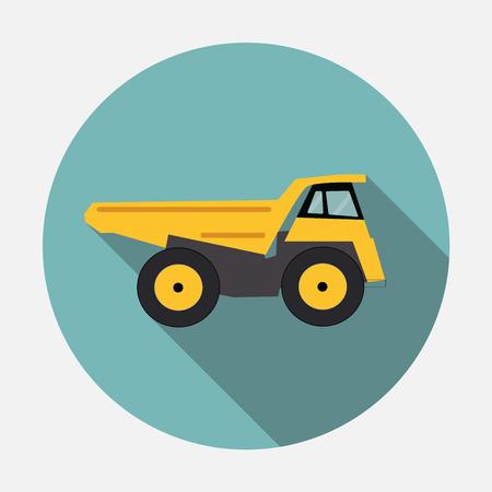 long distance: Ftat Truck Vector Illustration
