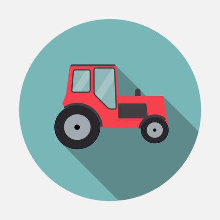 long distance: Ftat Tractor Vector Illustration