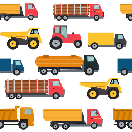 camion: Truck Cars Seamless Pattern Background Vector Illustration