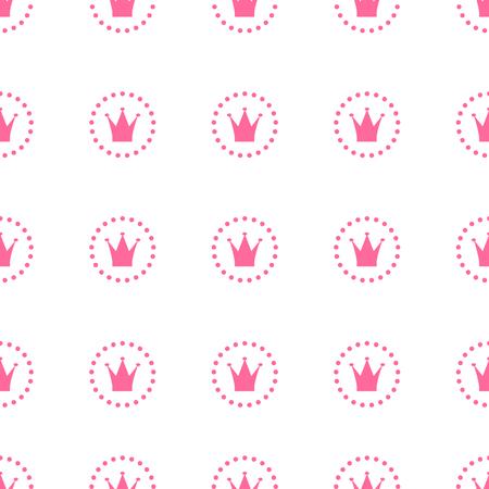 Princess Seamless Pattern Background Vector Illustration Illustration