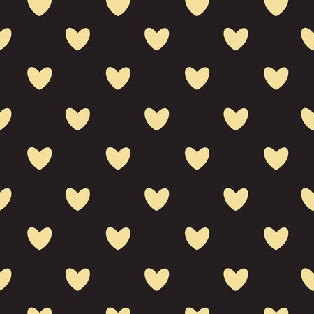 small group of objects: Happy Valentines Day Seamless Pattern Background with Heart. Vector Illustration.