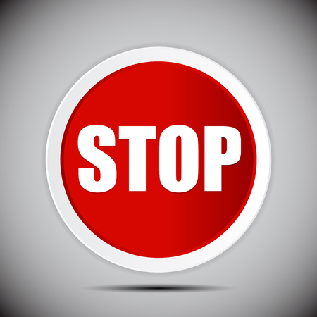 Red Stop Road Sign Vector Illustration EPS10 Illustration