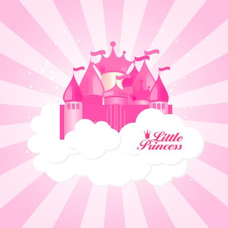 little princess: Little Princess Background Vector Illustration Illustration