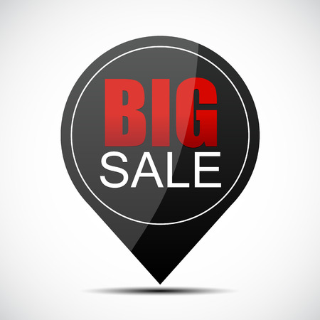 miserly: Big Sale Label Vector Illustration