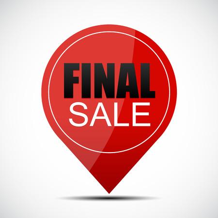 miserly: Final Sale Label Vector Illustration Illustration