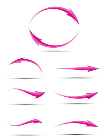 cursor arrow: Abstract Vector Arrow Icon Template. Vector Illustration of Cursor Arrow. Illustration