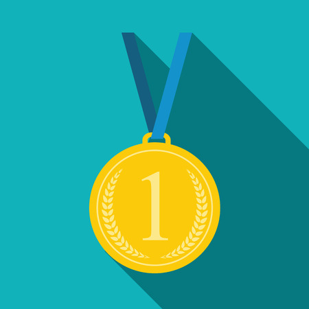 laureate: Art Flat Medal Icon for Web. Medal icon app. Medal icon best. Medal icon sign. Medal icon 1 First Place Gold.