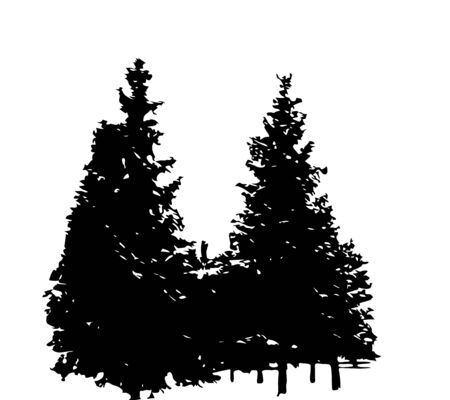 tree isolated: Tree Silhouette Isolated on White Backgorund. Vecrtor Illustration. EPS10 Illustration