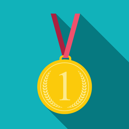 medal: Art Flat Medal Icon for Web. Medal icon app. Medal icon best. Medal icon sign. Medal icon 1 First Place Gold.