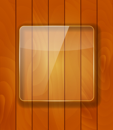 woody: Glass Frame on Checkered  Abstract Woody Background. Vector Illustration. EPS10