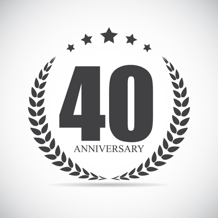 40 years: Template Logo 40 Years Anniversary Vector Illustration EPS10