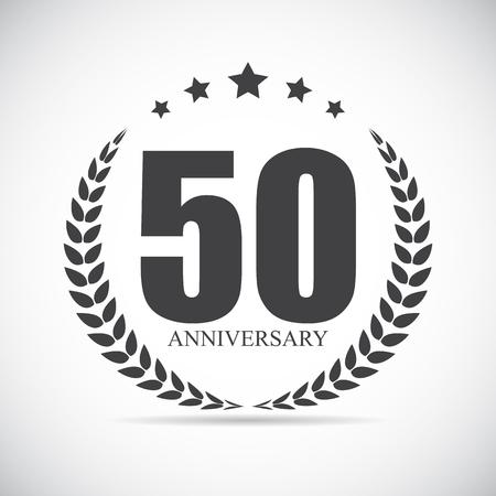 selebration: Template Logo 50 Years Anniversary Vector Illustration EPS10
