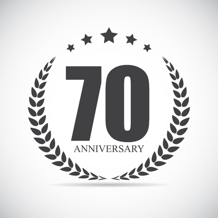 70 years: Template Logo 70 Years Anniversary Vector Illustration EPS10 Illustration