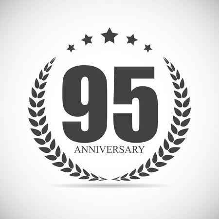 95: Template Logo 95 Years Anniversary Vector Illustration EPS10