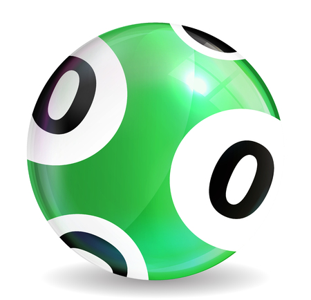jack pot: Victory Ball for the game of lottery. Jack pot. Vector Illustration. EPS10