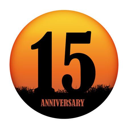 ten years jubilee: Template Logo Anniversary Vector Illustration EPS10