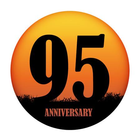 selebration: Template Logo Anniversary Vector Illustration EPS10