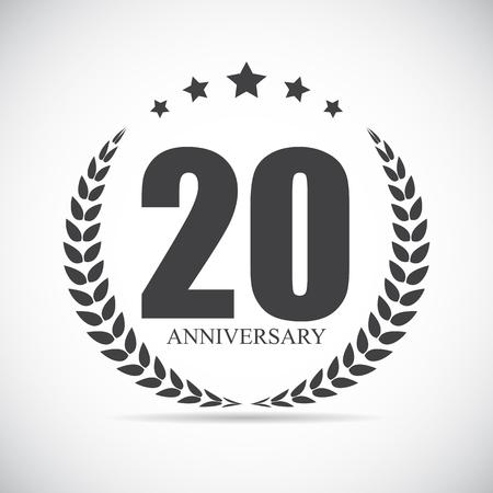 Template Logo 20 Years Anniversary Vector Illustration EPS10