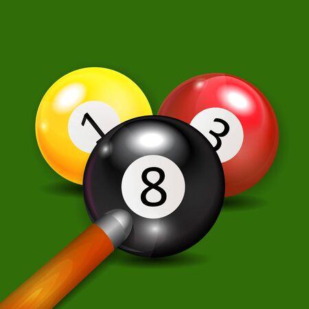 Ivories, Billiard Balls Background Vector Illustration. EPS10