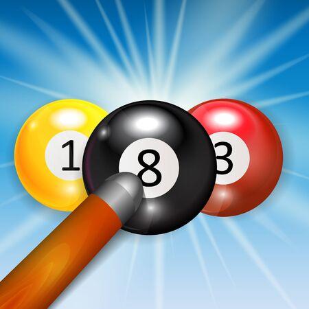 ivories: Ivories, Billiard Balls Background Vector Illustration. EPS10