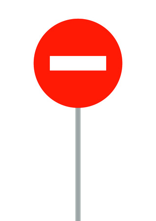 prohibited: Road signs. It is prohibited to enter vehicles. Vector Illustration. EPS10 Illustration