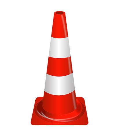 guardrails: Road signs. Orange Badge guardrails. Vector Illustration EPS10