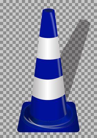 guardrails: Road signs. Blue Badge guardrails on transparent background. Vector Illustration. EPS10