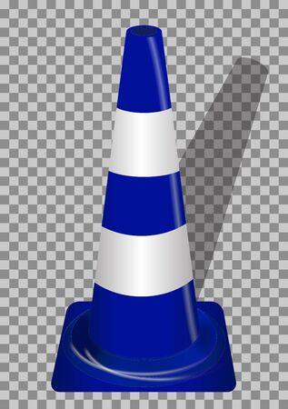 guardrails: Road signs. Blue Badge guardrails on transparent background. Vector Illustration. EPS10