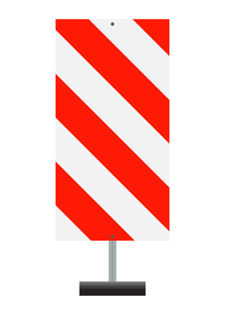guardrails: Road signs. Red Badge guardrails. Vector Illustration EPS10