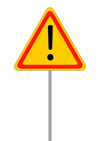 general warning: Road signs. Red Badge guardrails. Vector Illustration EPS10