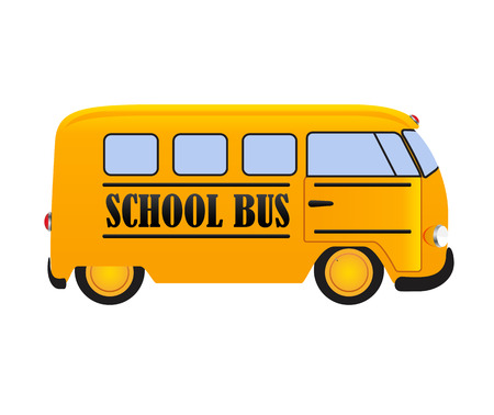 yellow schoolbus: School Bus Icon Isolated on White Background EPS10