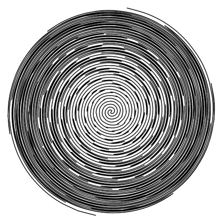 hypnotize: Black and White Hypnotic Fascinating Abstract Image.Vector Illustration. EPS10 Illustration