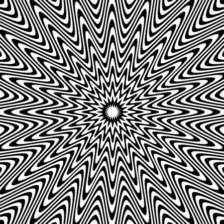 Black and White Hypnotic Fascinating Abstract Image.